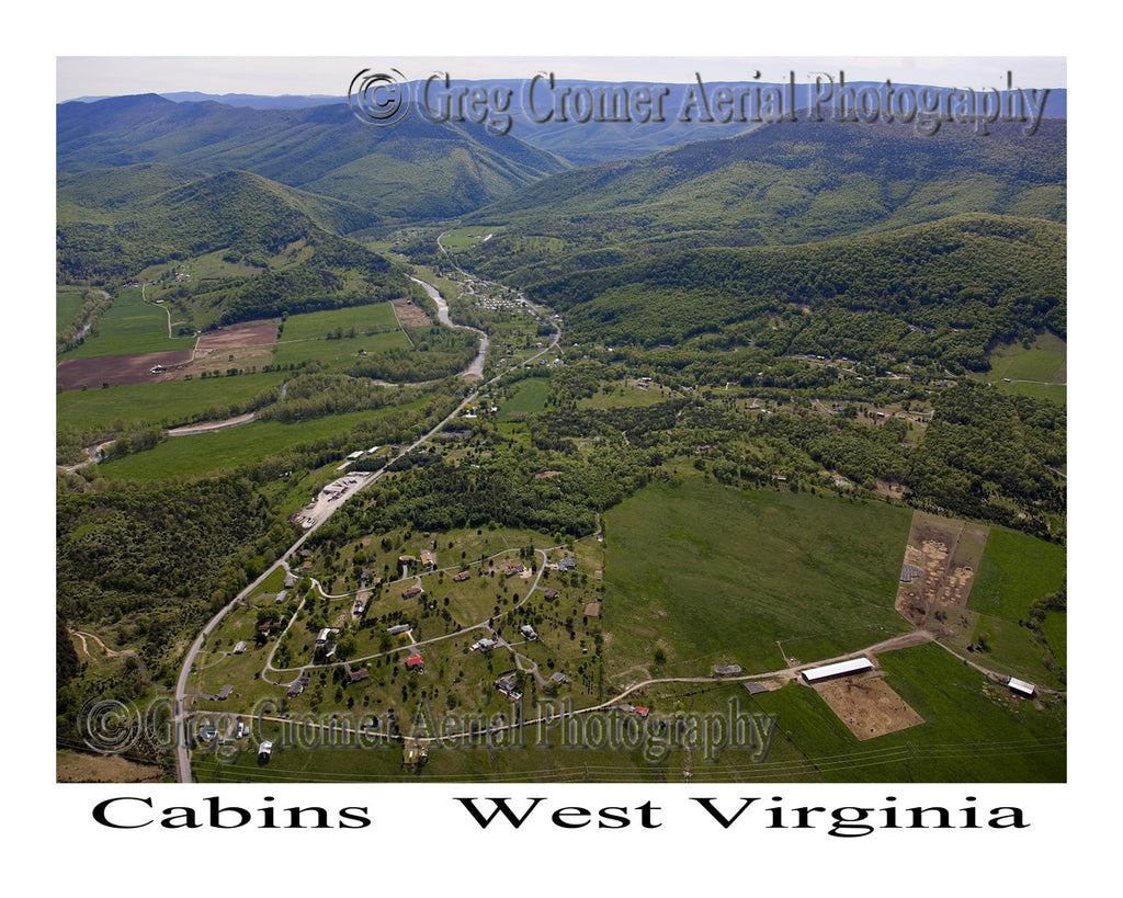 Aerial Photo of Cabins, West Virginia