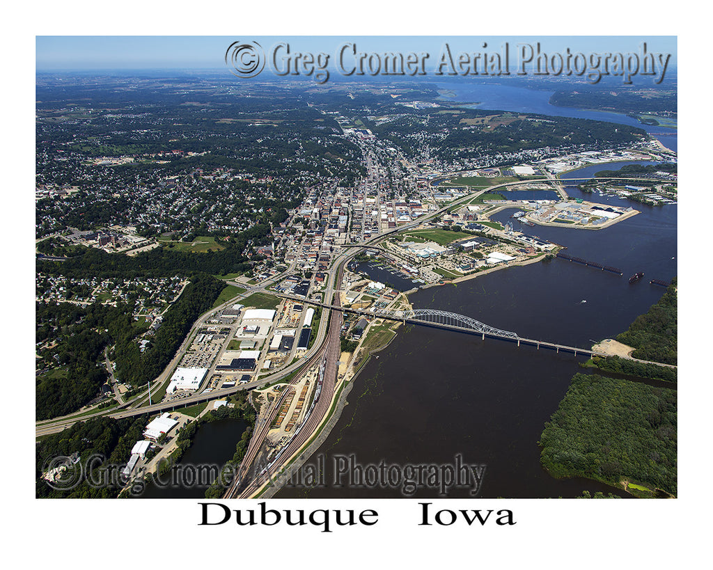 Aerial Photo of Dubuque Iowa