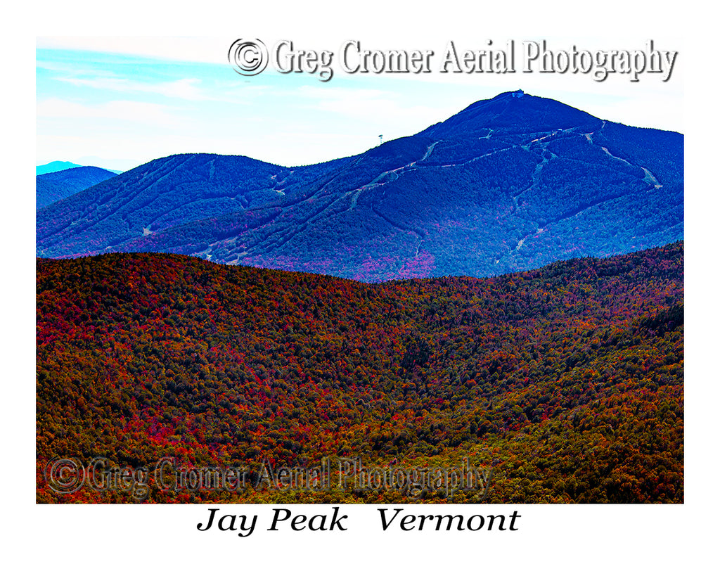 Aerial Photo of Jay Peak, Vermont