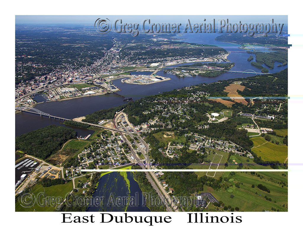 Aerial Photo of East Dubuque, Illinois
