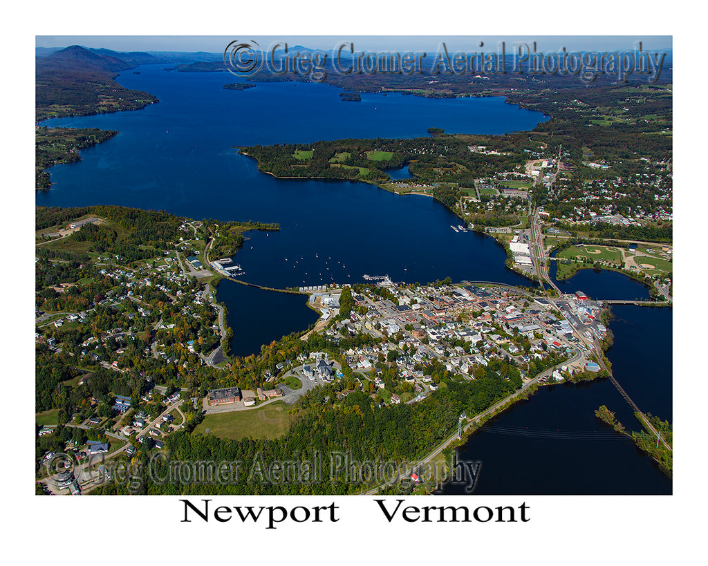 Aerial Photo of Newport, Vermont