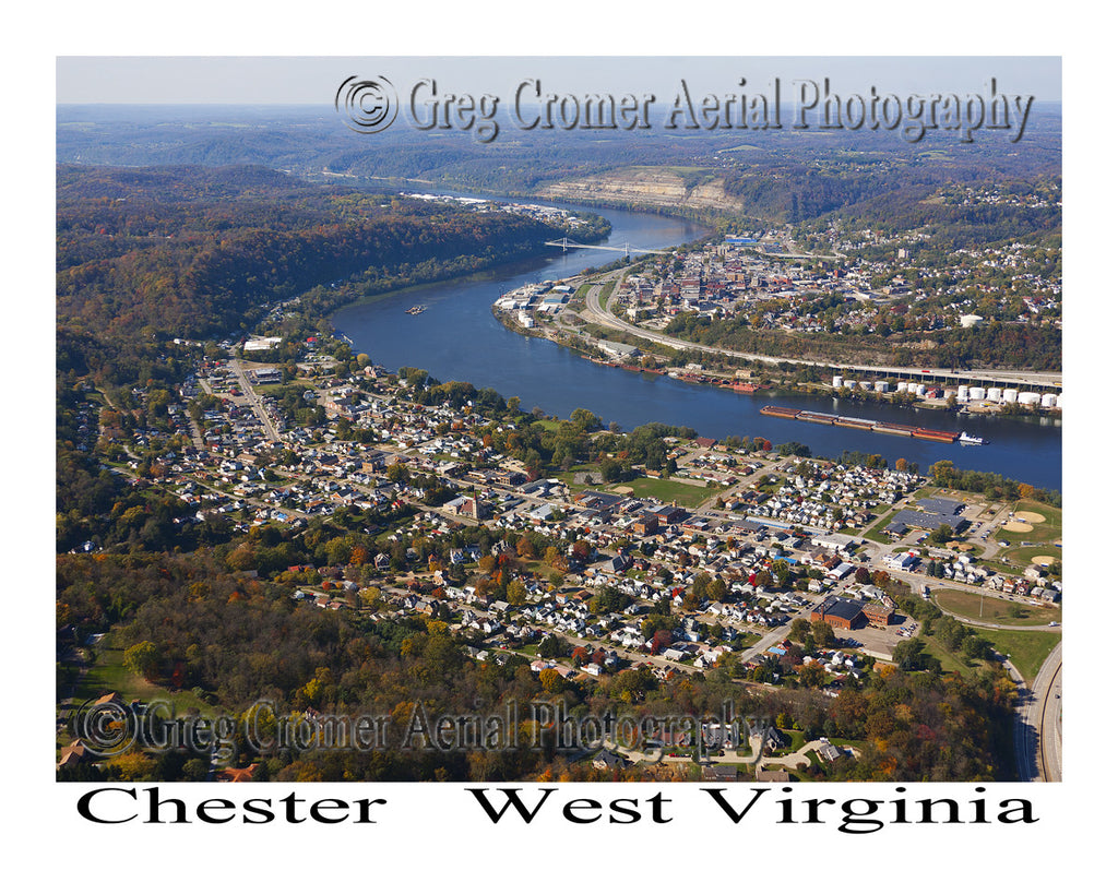Aerial Photo of Chester, West Virginia