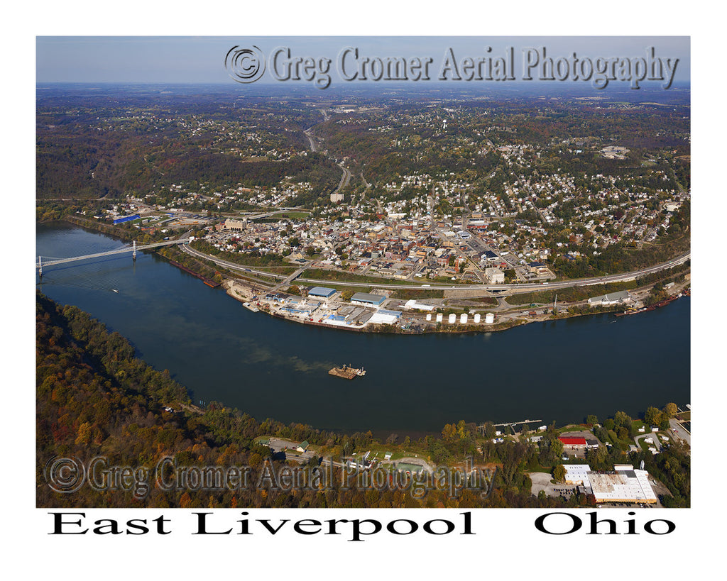 Aerial Photo of East Liverpool, Ohio