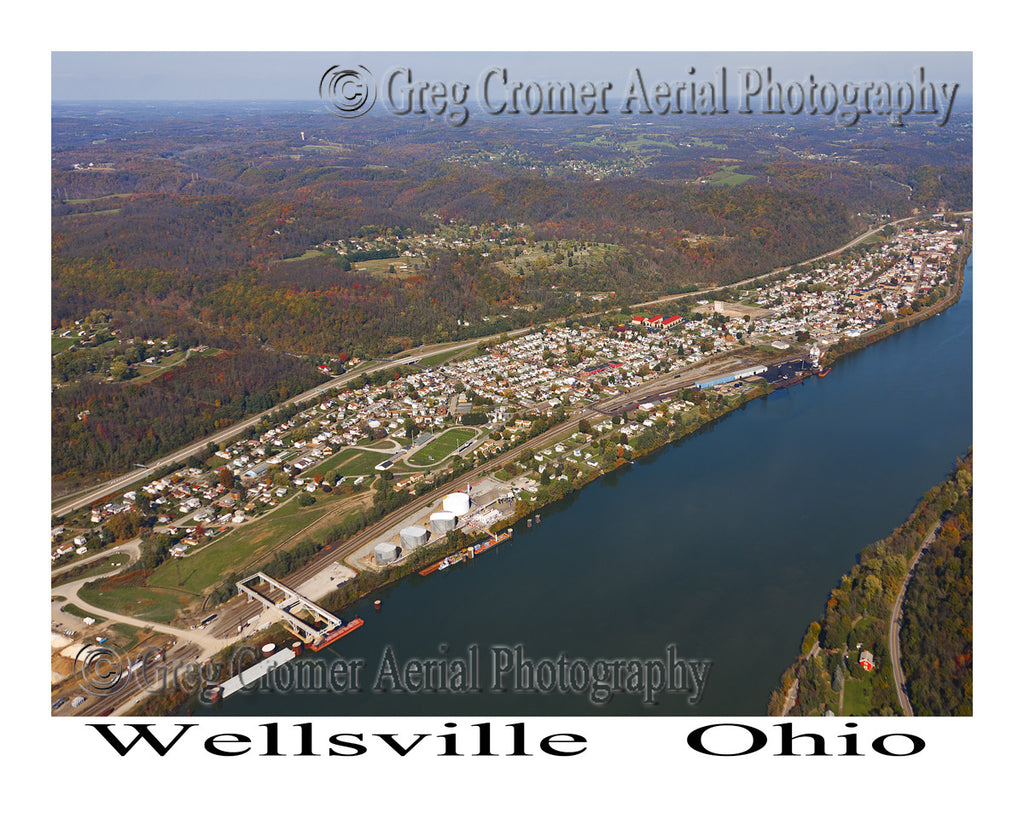 Aerial Photo of Wellsville, Ohio