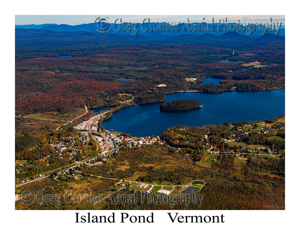 Aerial Photo of Island Pond, Vermont