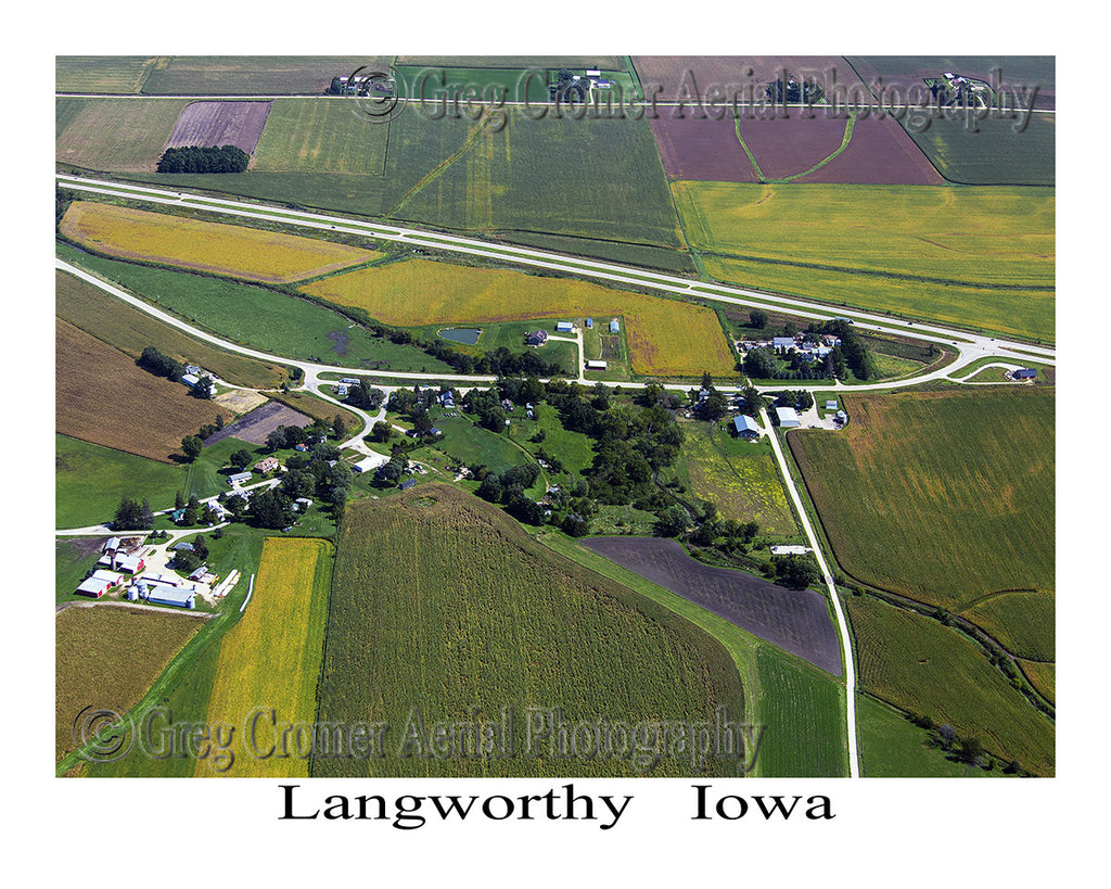 Aerial Photo of Langworthy Iowa