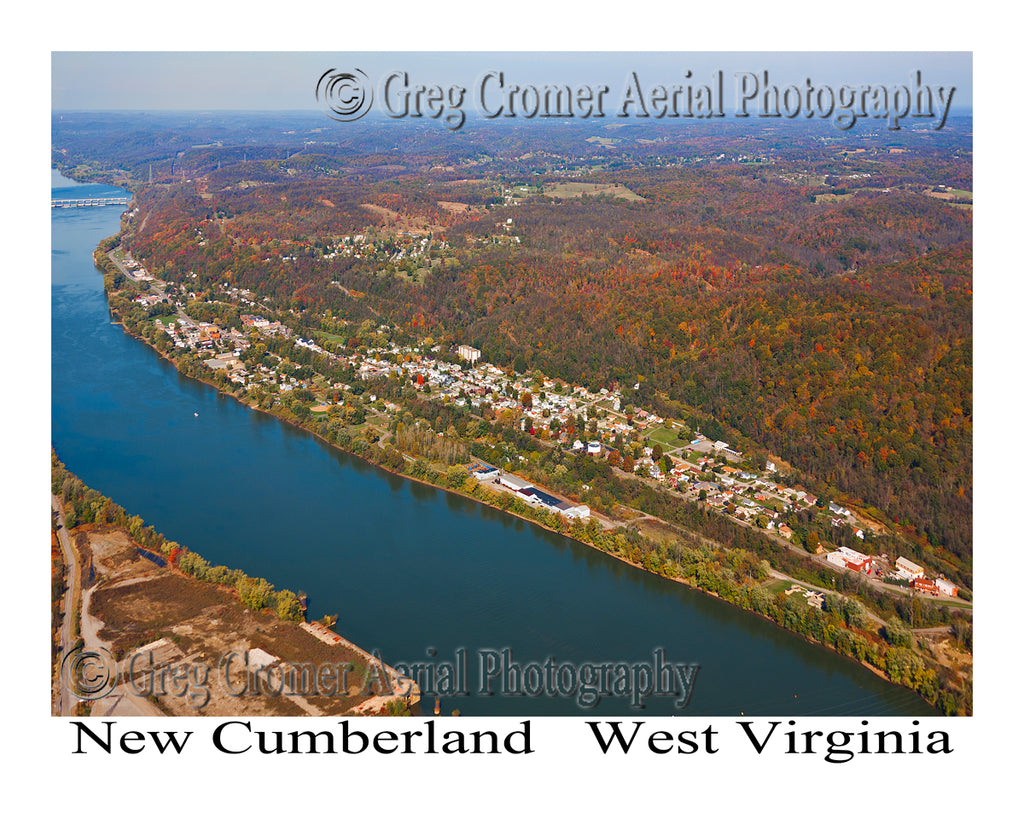 Aerial Photo of New Cumberland, West Virginia