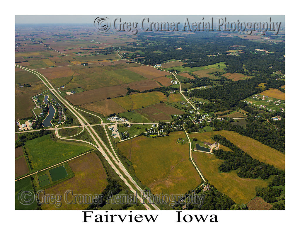 Aerial Photo of Fairview Iowa