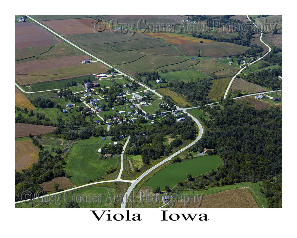 Aerial Photo of Viola Iowa