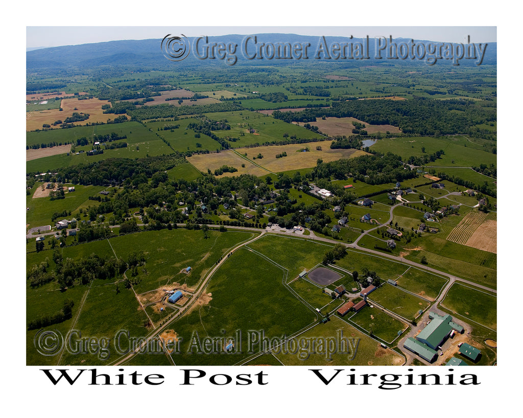 Aerial Photo of White Post, Virginia