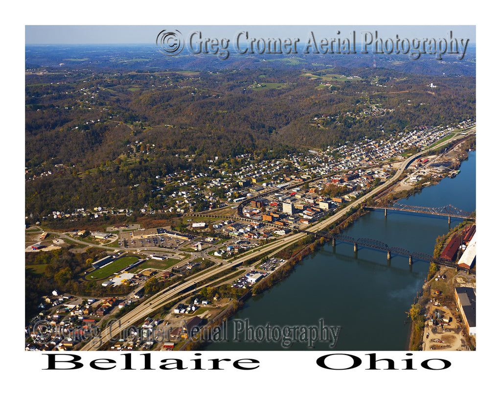 Aerial Photo of Bellaire, Ohio