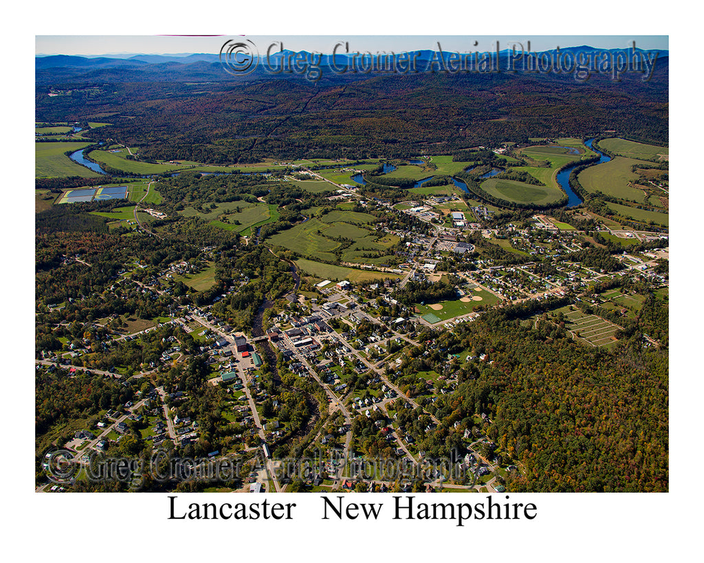 Aerial Photo of Lancaster, New Hampshire