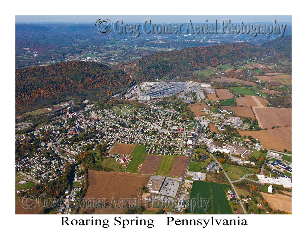 Aerial Photo of Roaring Spring, Pennsylvania