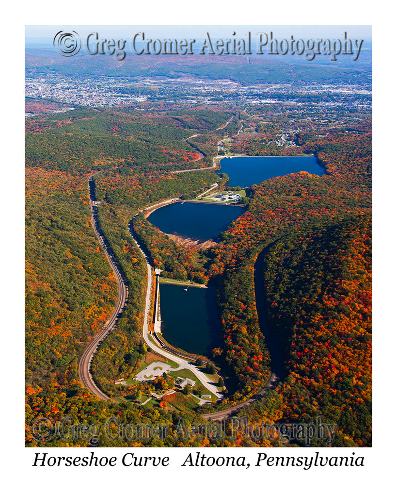 Aerial Photo of Horseshoe Curve - Altoona, Pennsylvania