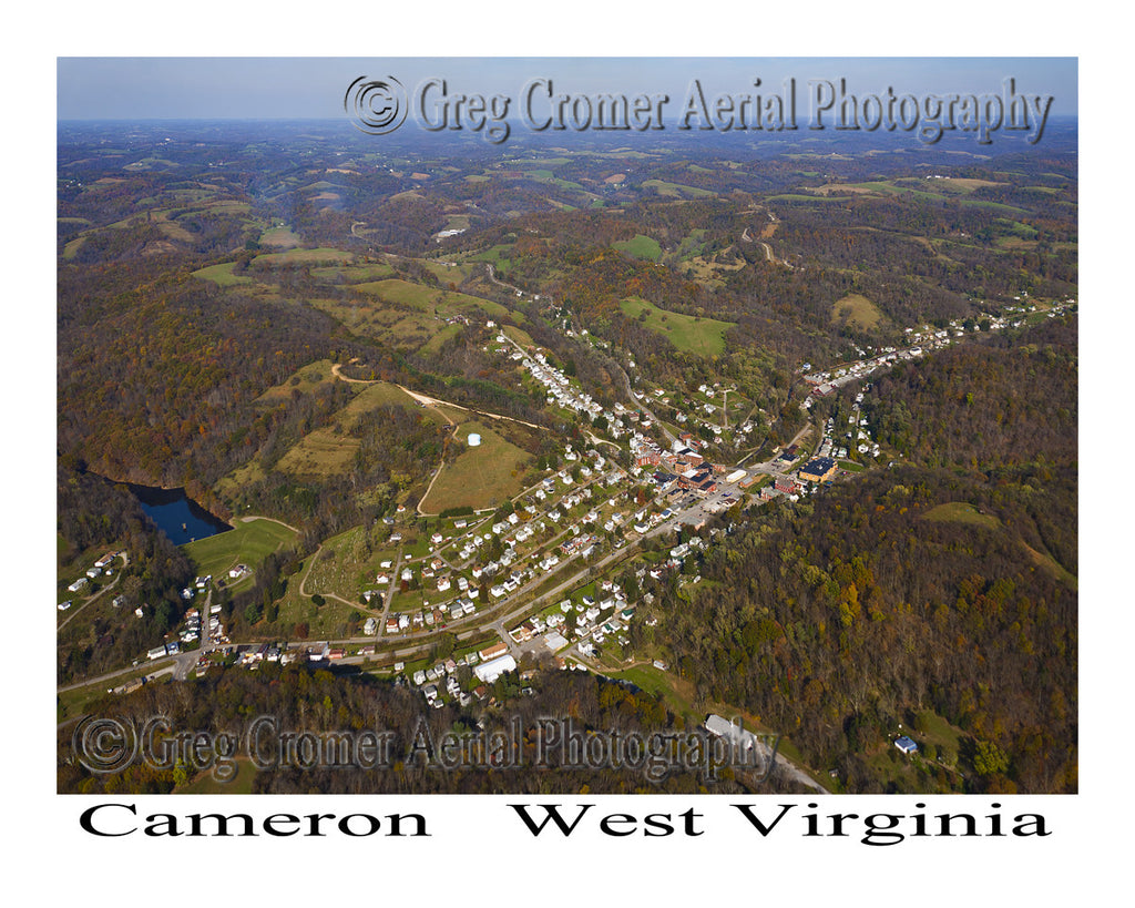 Aerial Photo of Cameron, West Virginia