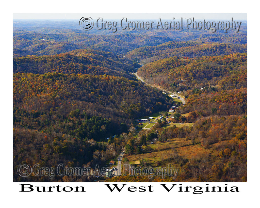 Aerial Photo of Burton, West Virginia