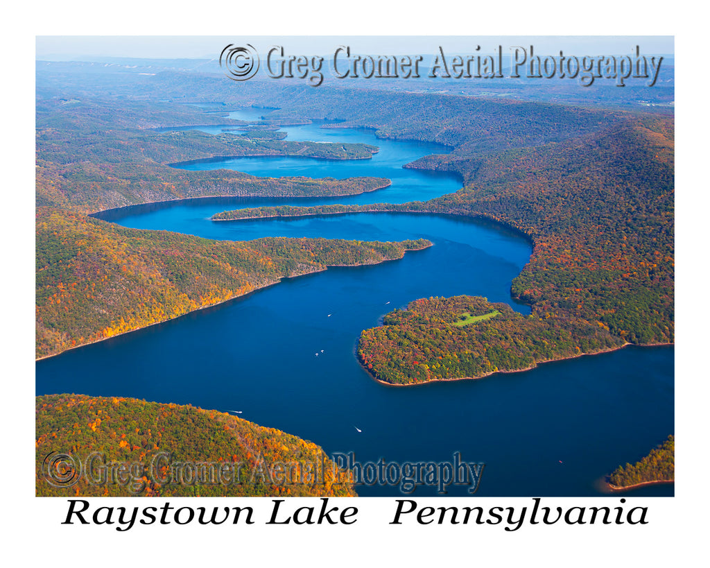 Aerial Photo of Raystown Lake, Pennsylvania