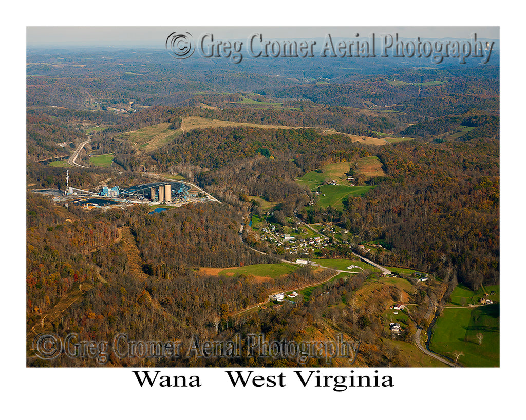 Aerial Photo of Wana, West Virginia