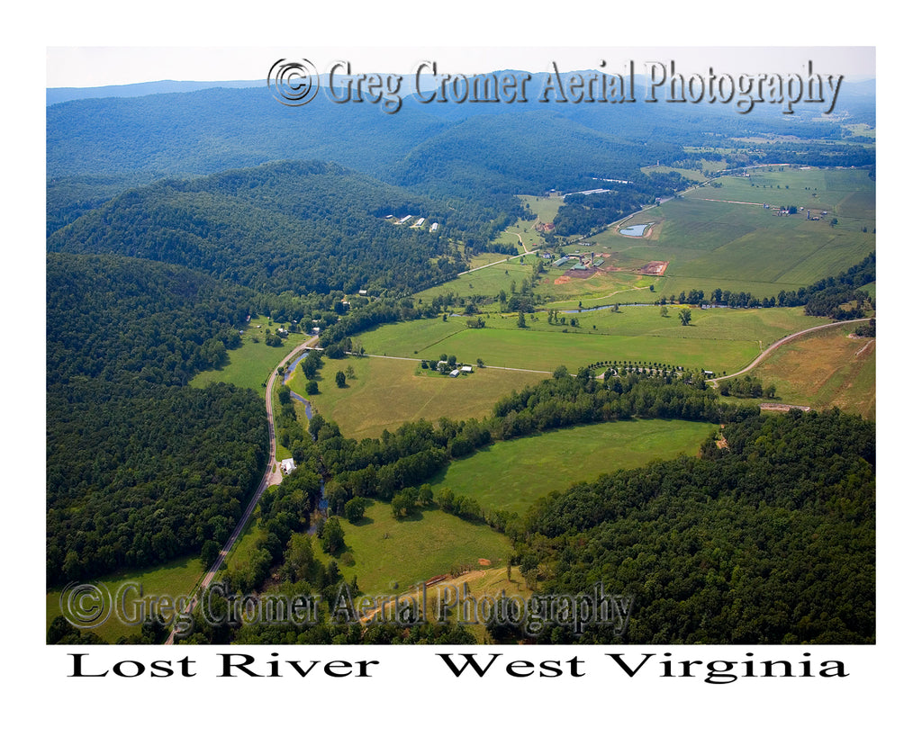 Aerial Photo of Lost River, West Virginia
