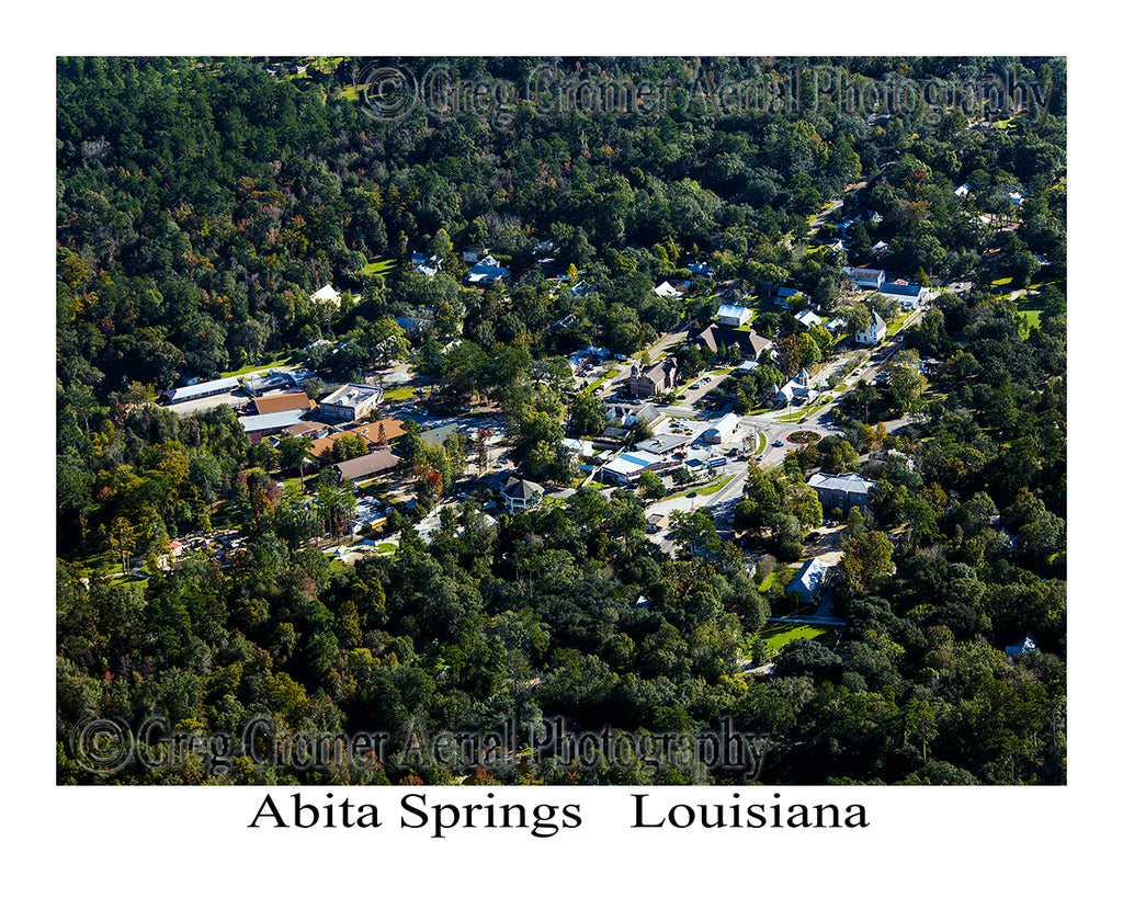 Aerial Photo of Abita Springs, Louisiana