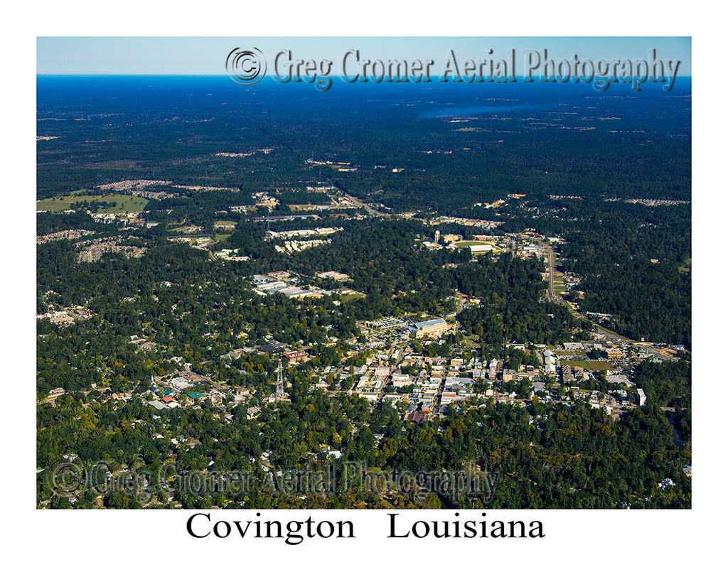 Aerial Photo of Covington, Louisiana