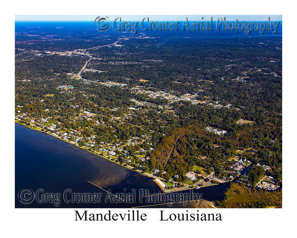 Aerial Photo of Mandeville, Louisiana