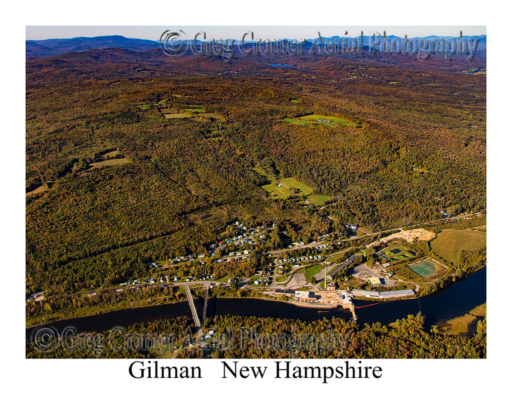 Aerial Photo of Gilman, New Hampshire