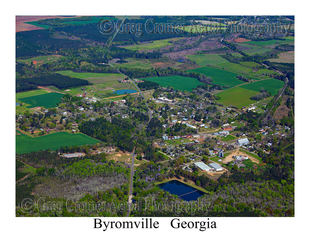 Aerial Photo of Byromville, Georgia