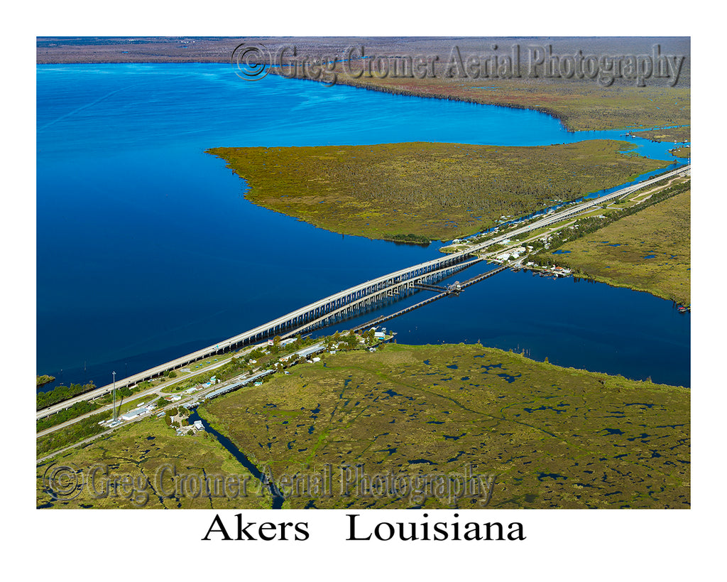 Aerial Photo of Akers, Louisiana