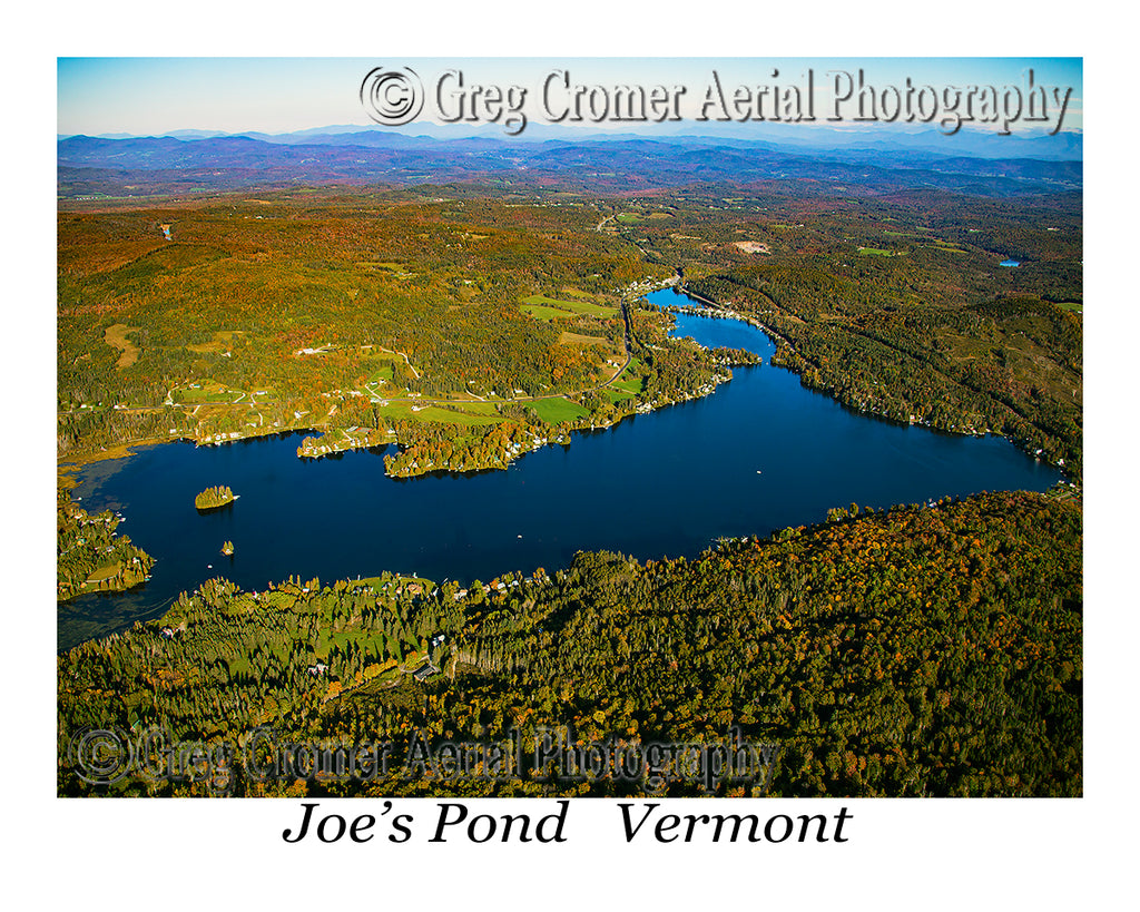 Aerial Photo of Joe's Pond, Vermont