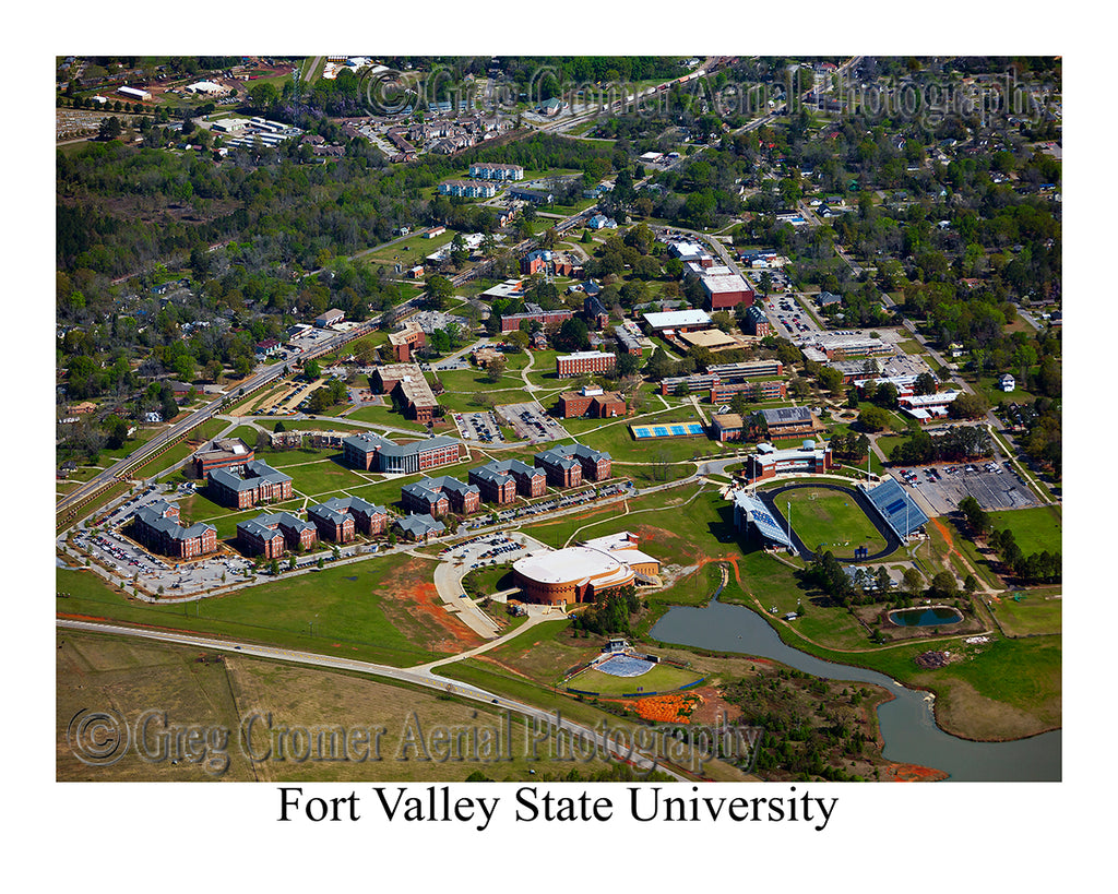 Aerial Photo of Fort Valley State University - Fort Valley, Georgia