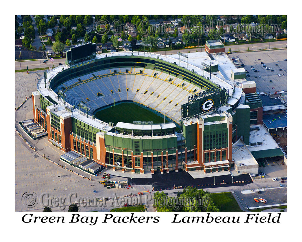 Aerial Photo of Green Bay Packers Stadium - Lambeau Field - Green Bay Wisconsin