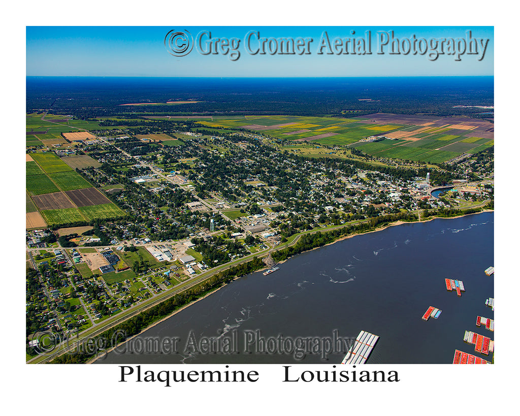 Aerial Photo of Plaquemine, Louisiana