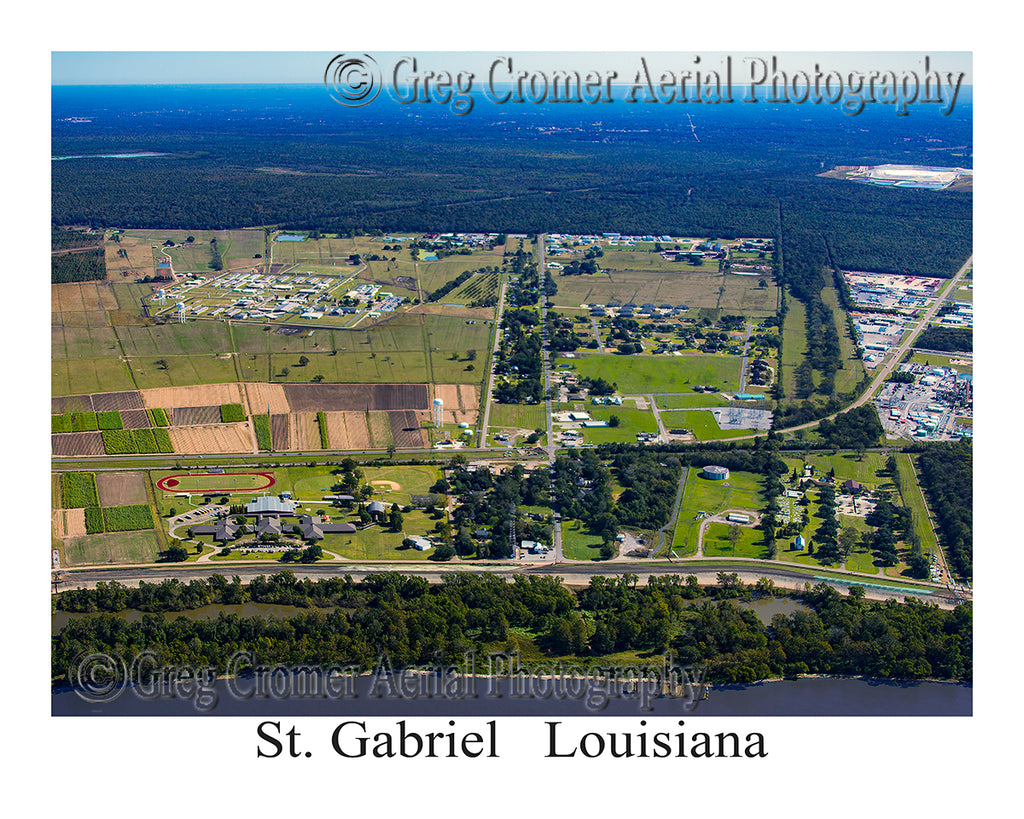 Aerial Photo of St. Gabriel, Louisiana