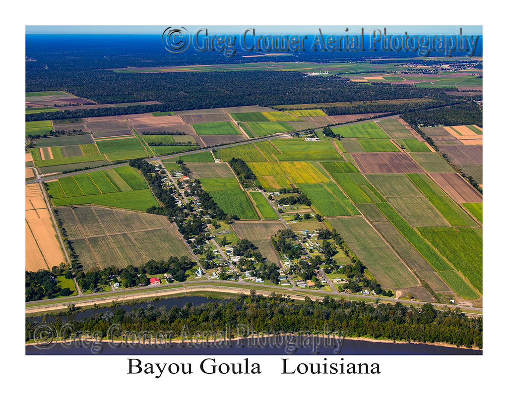 Aerial Photo of Bayou Goula, Louisiana