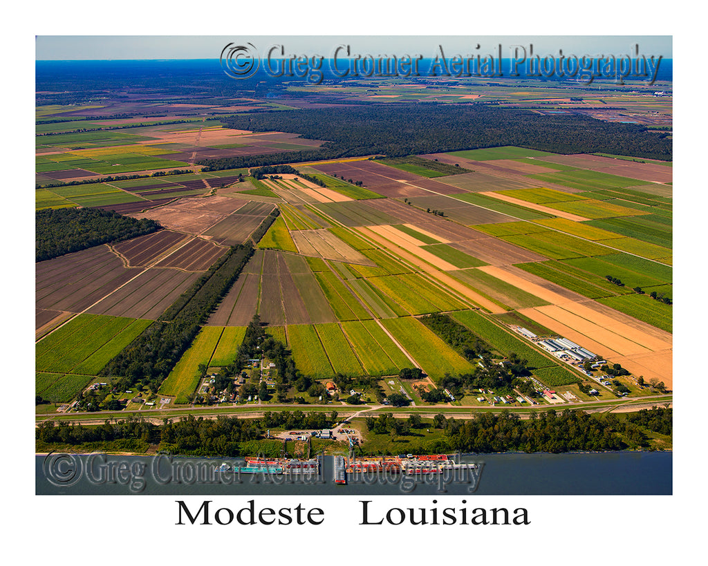 Aerial Photo of Modeste, Louisiana