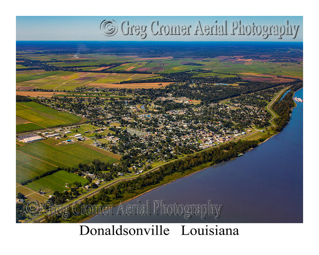 Aerial Photo of Donaldsonville, Louisiana