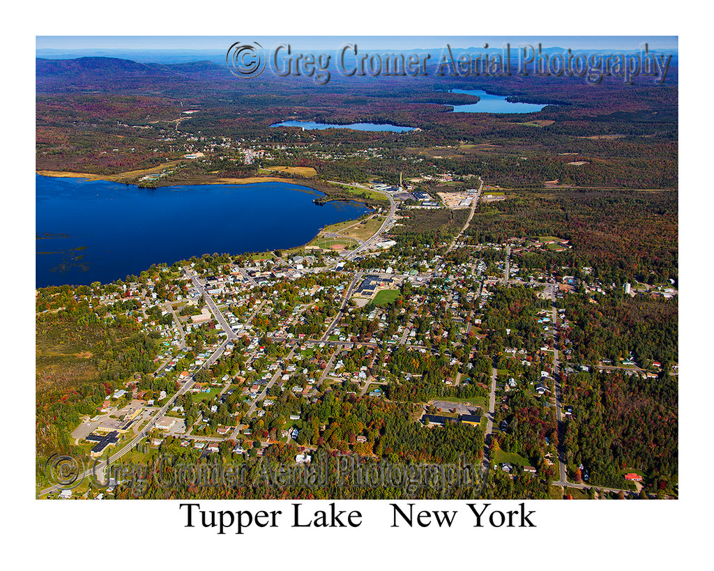 Aerial Photo of Tupper Lake, New York