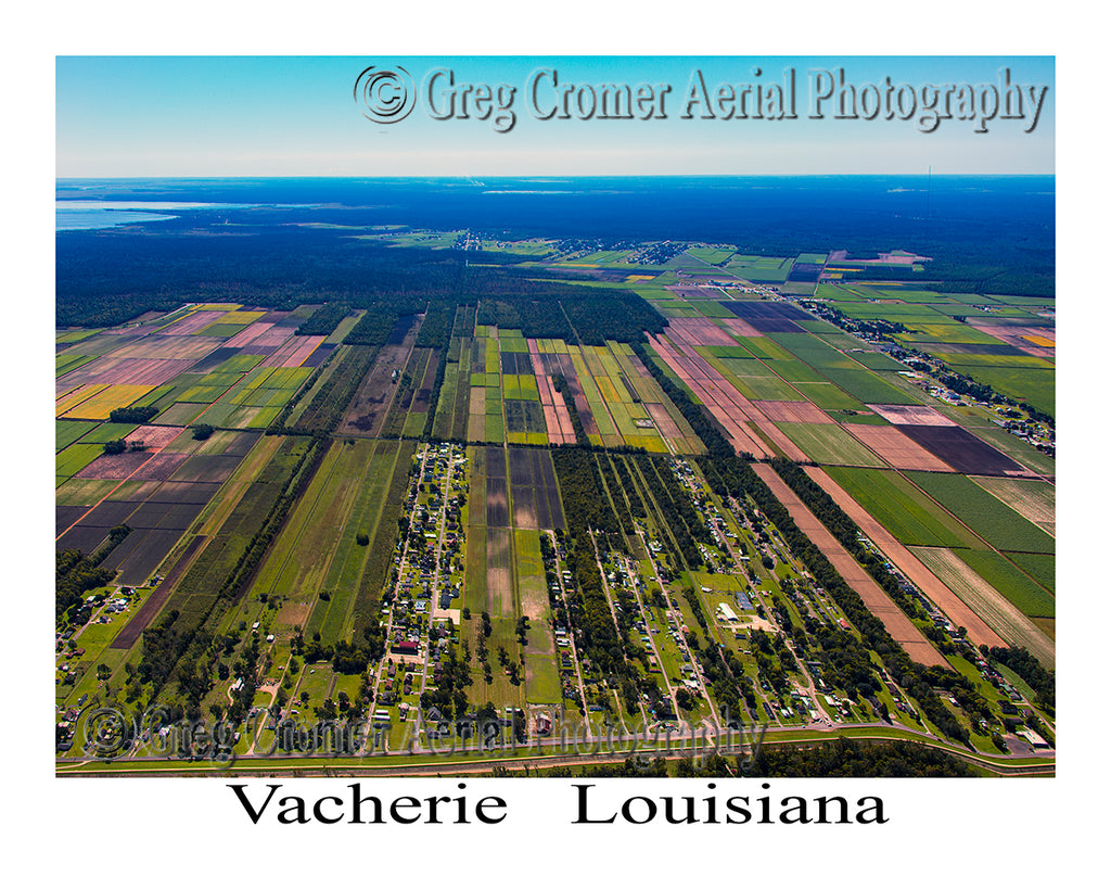 Aerial Photo of Vacherie, Louisiana