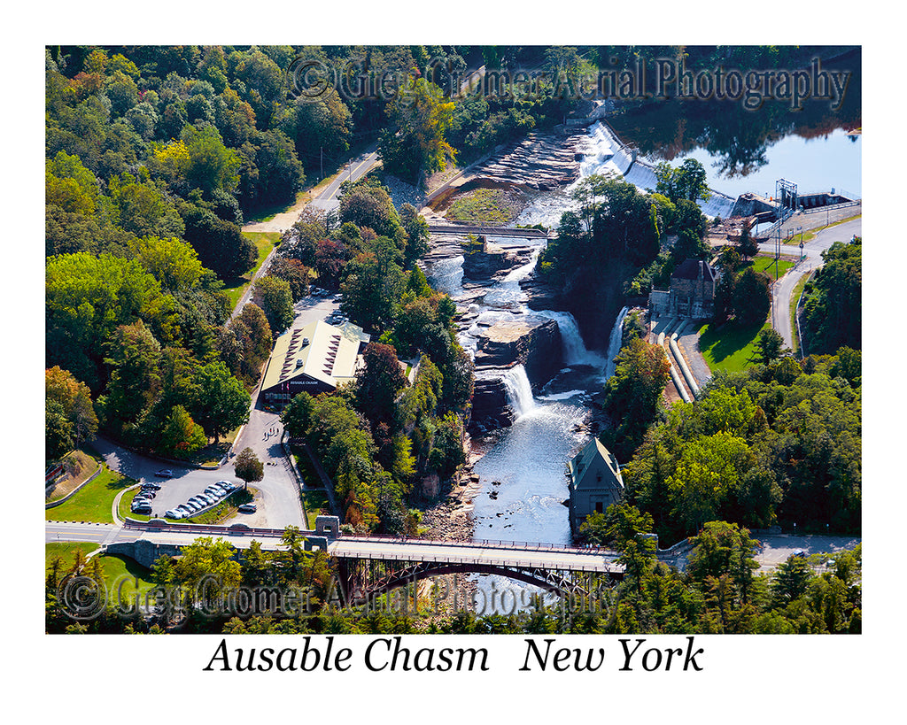 Aerial Photo of Ausable Chasm, New York