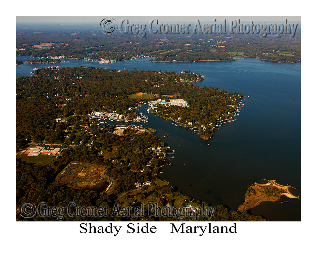 Aerial Photo of Shady Side, Maryland