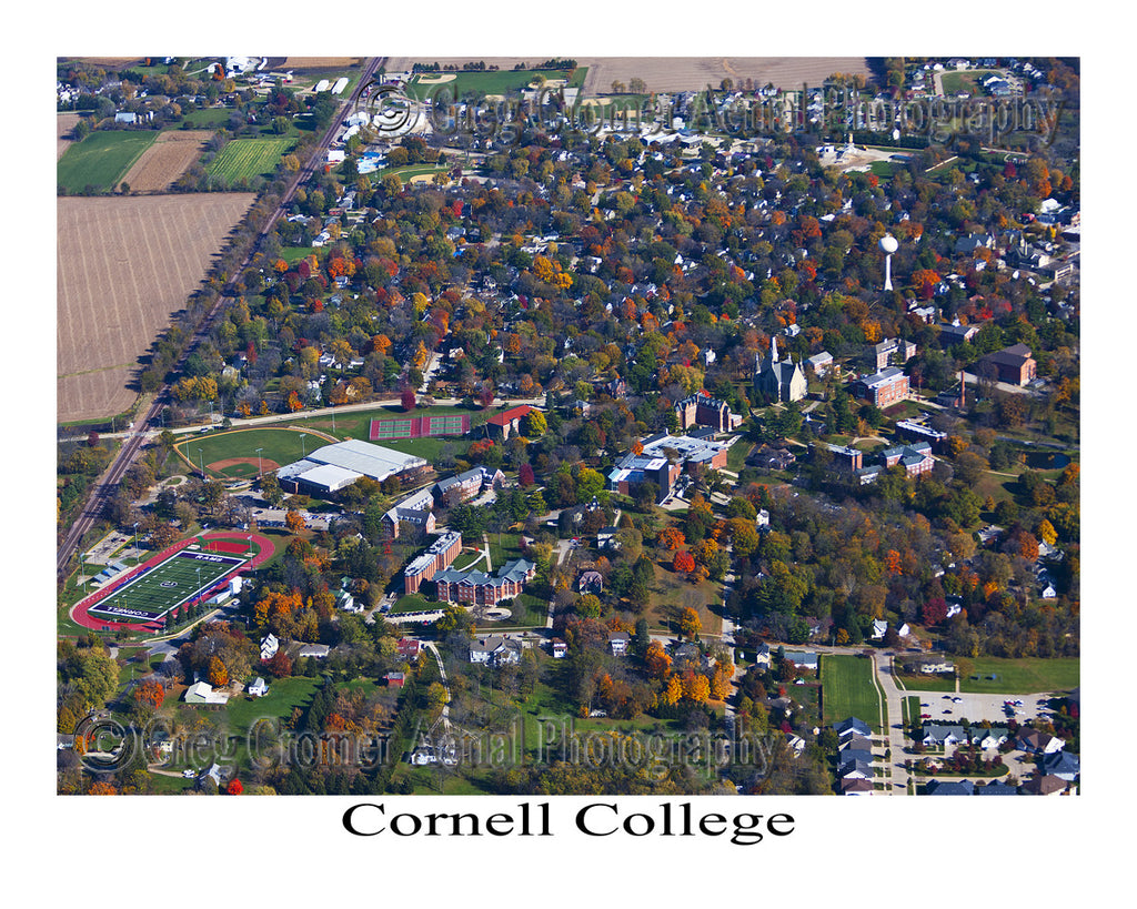 Aerial Photo of Cornell College, Mt. Vernon, Iowa