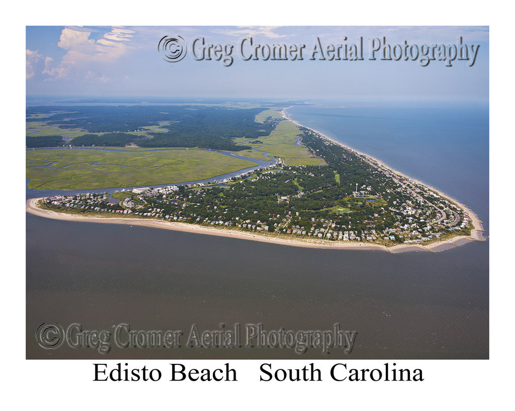 Aerial Photo of Edisto Beach, South Carolina