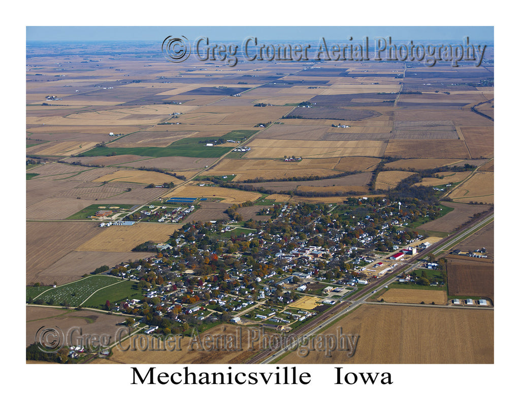 Aerial Photo of Mechanicsville Iowa