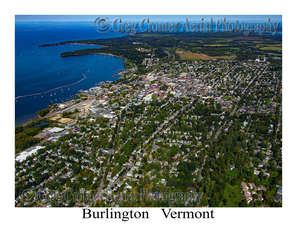 Aerial Photo of Burlington, Vermont