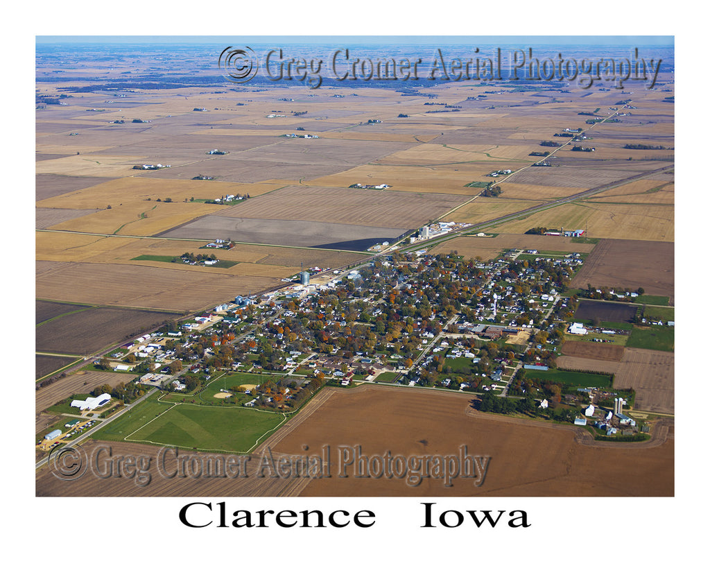 Aerial Photo of Clarence, Iowa