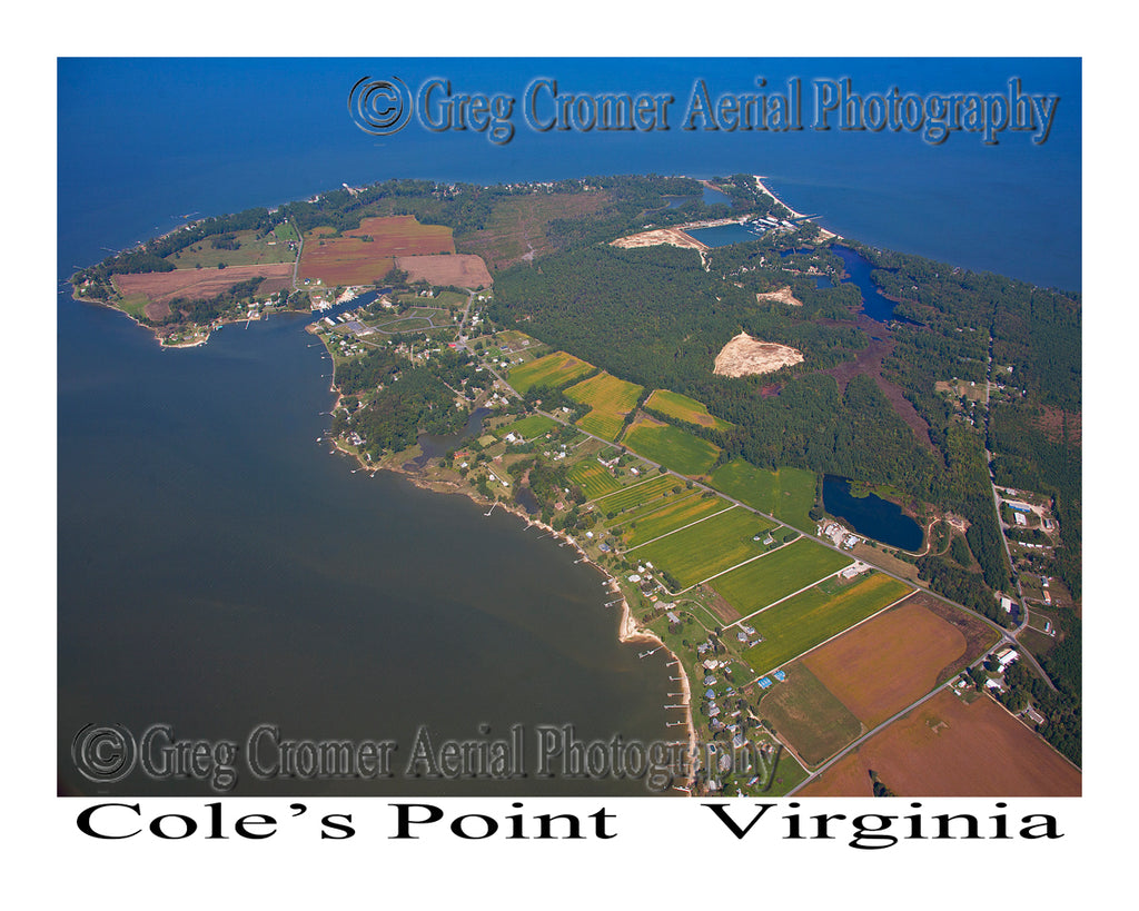 Aerial Photo of Coles Point, Virginia
