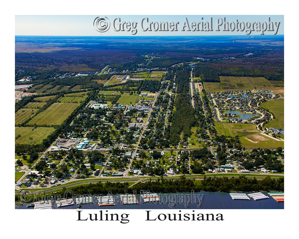 Aerial Photo of Luling, Louisiana
