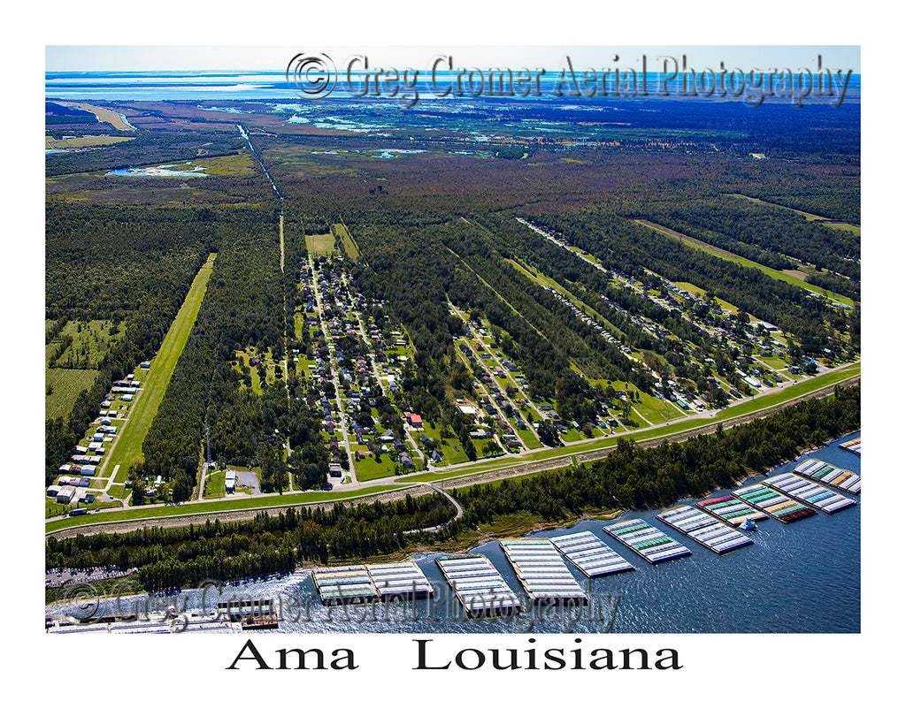 Aerial Photo of Ama, Louisiana