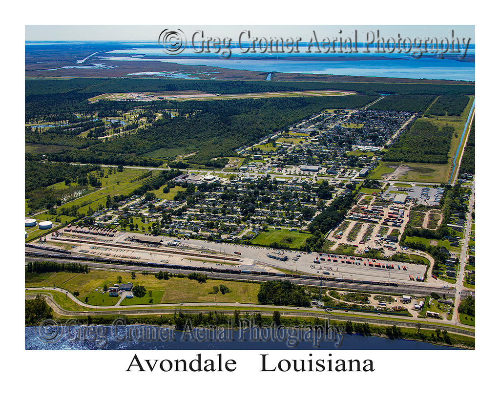Aerial Photo of Avondale, Louisiana